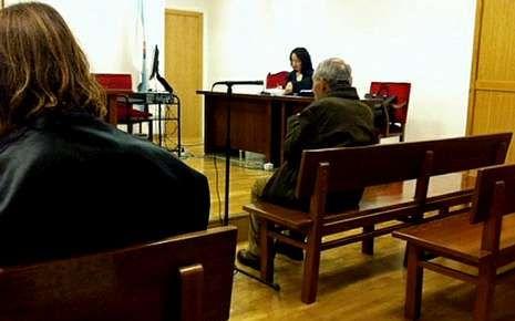 El acusado, ayer en el juicio celebrado en Lugo.