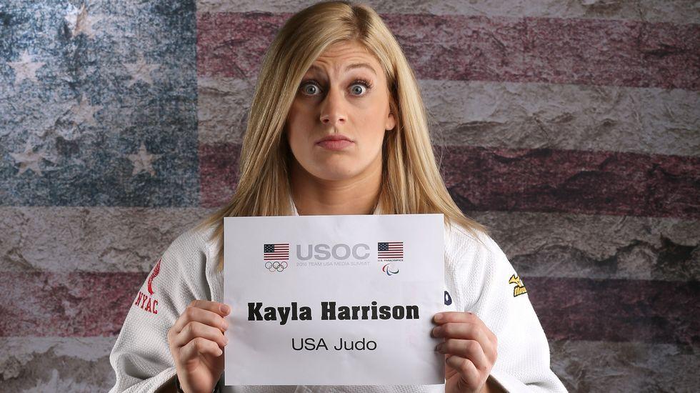 La atleta judoka Kayla Harrison posa para el reportaje