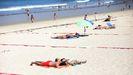 La distancia de seguridad, también en las playas, es clave para evitar los rebrotes