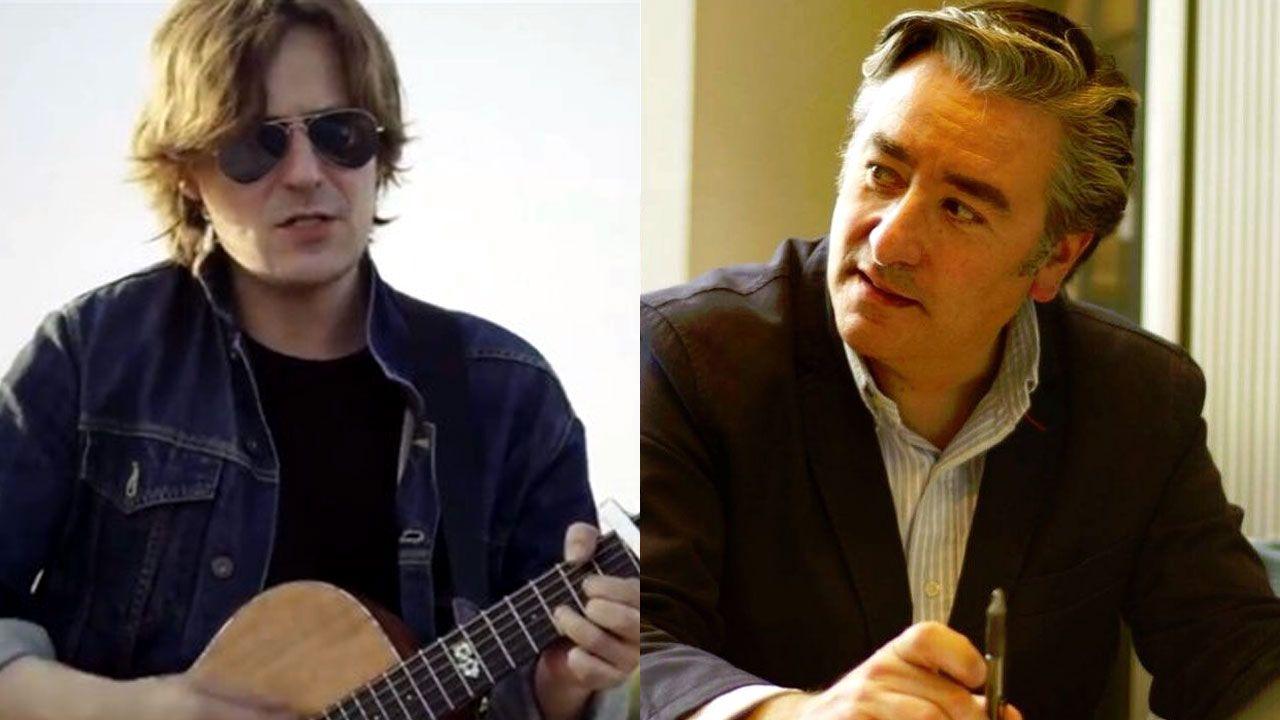 El cantautor Nacho Vegas y el portavoz municipal del PP gijonés, Pablo González