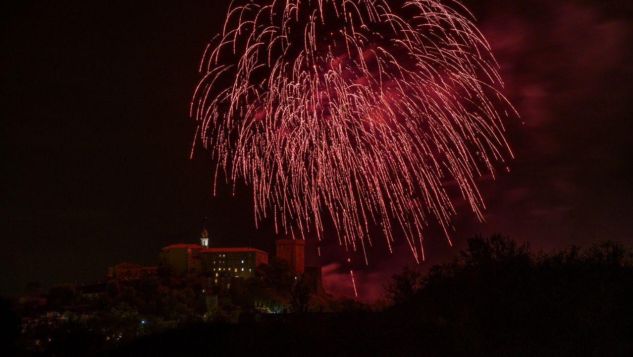 Os fogos de San Vicente foron practicamente o único que se celebrou das festas de agosto de Monforte