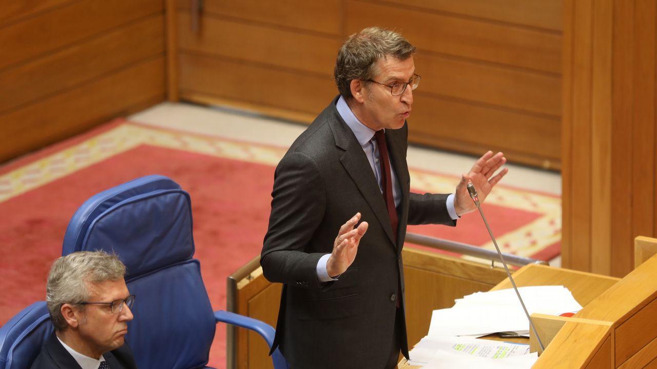 El presidente de la Xunta anunció la medida en la sesión de control en el Parlamento