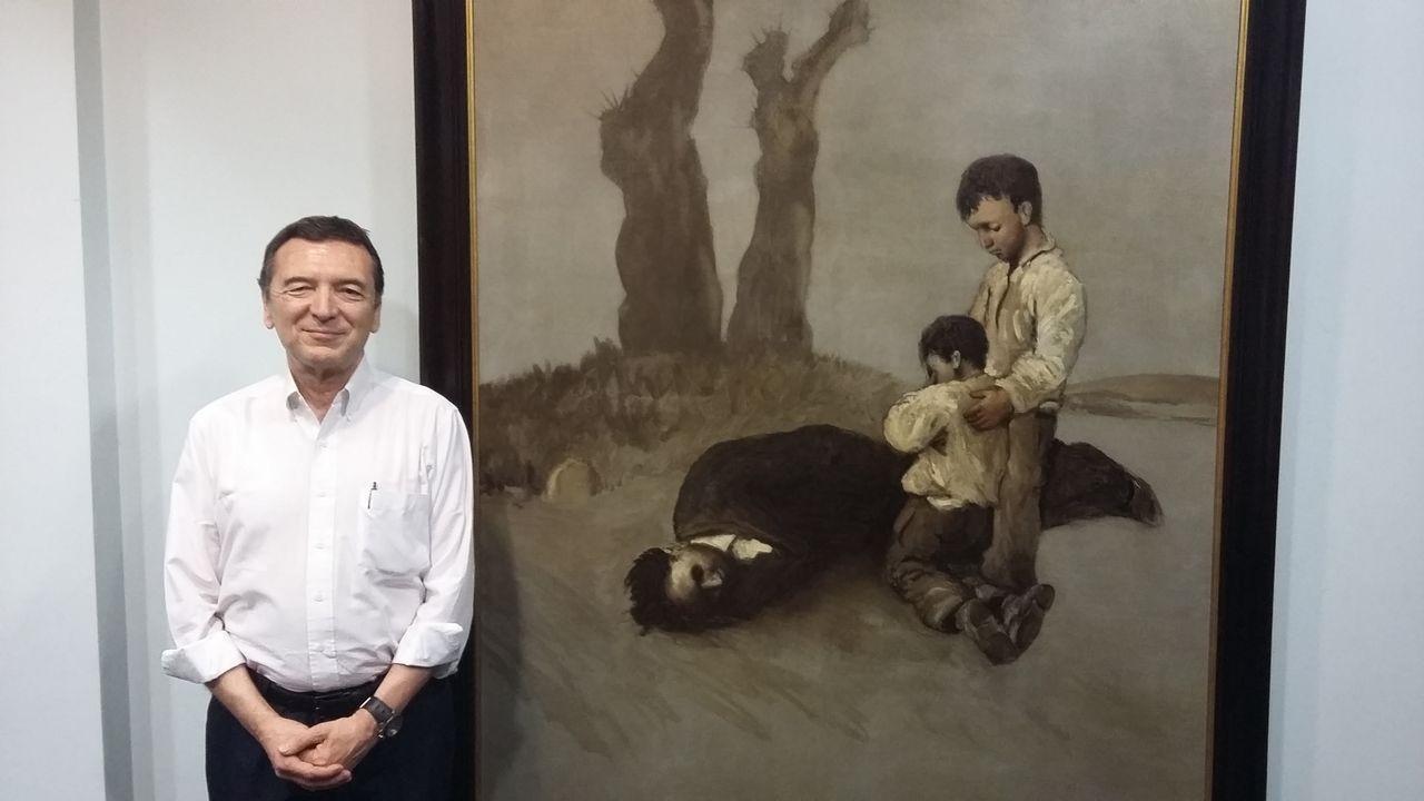 Retratos de Rosalía de Castro y Castelao