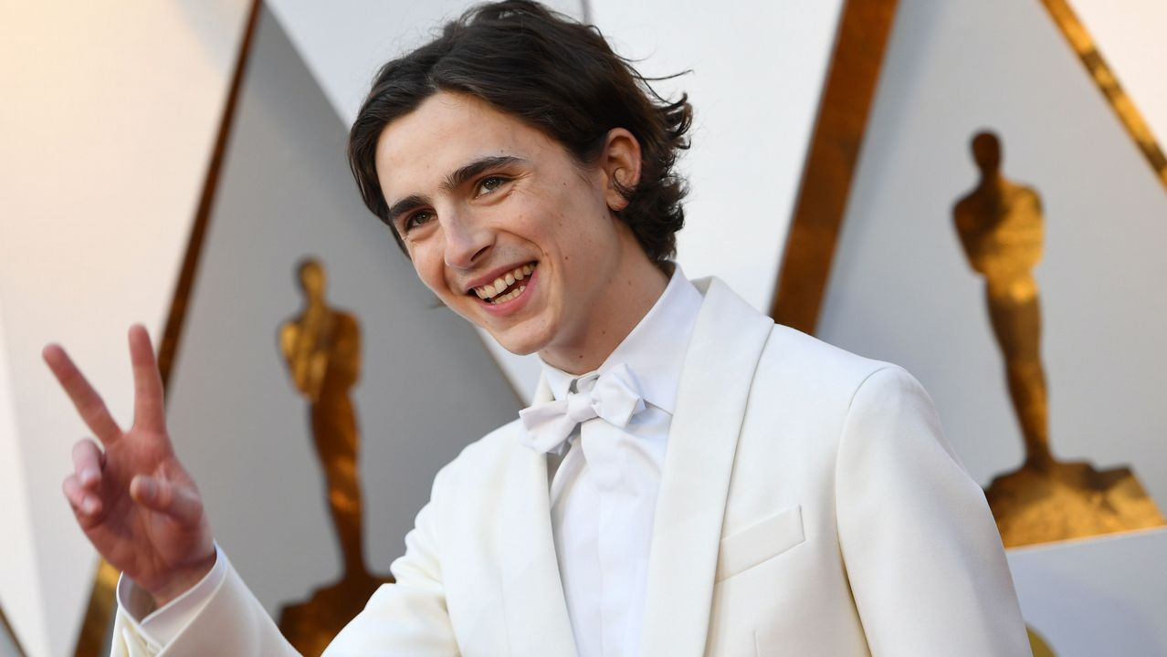 El joven actor Timothee Chalamet, nominado por «Call me by your name»