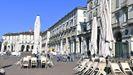 Bares y restaurantes. cerrados en Turín, Italia
