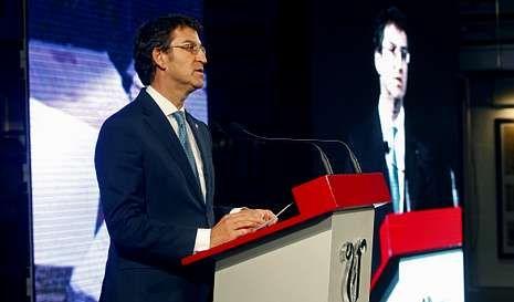 Núñez Feijoo sinalou que en Galaxia hai un legado inmaterial, a «feliz obsesión por acadar unha Galicia sen fisuras».