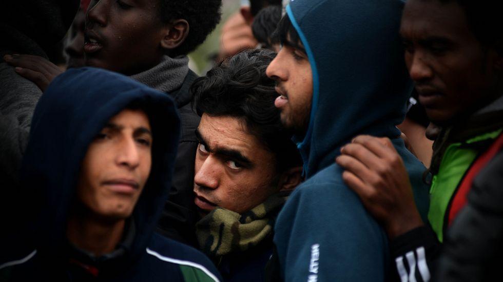 La jungla de Calais, en llamas.Crisis migratoria en el Mediterráneo