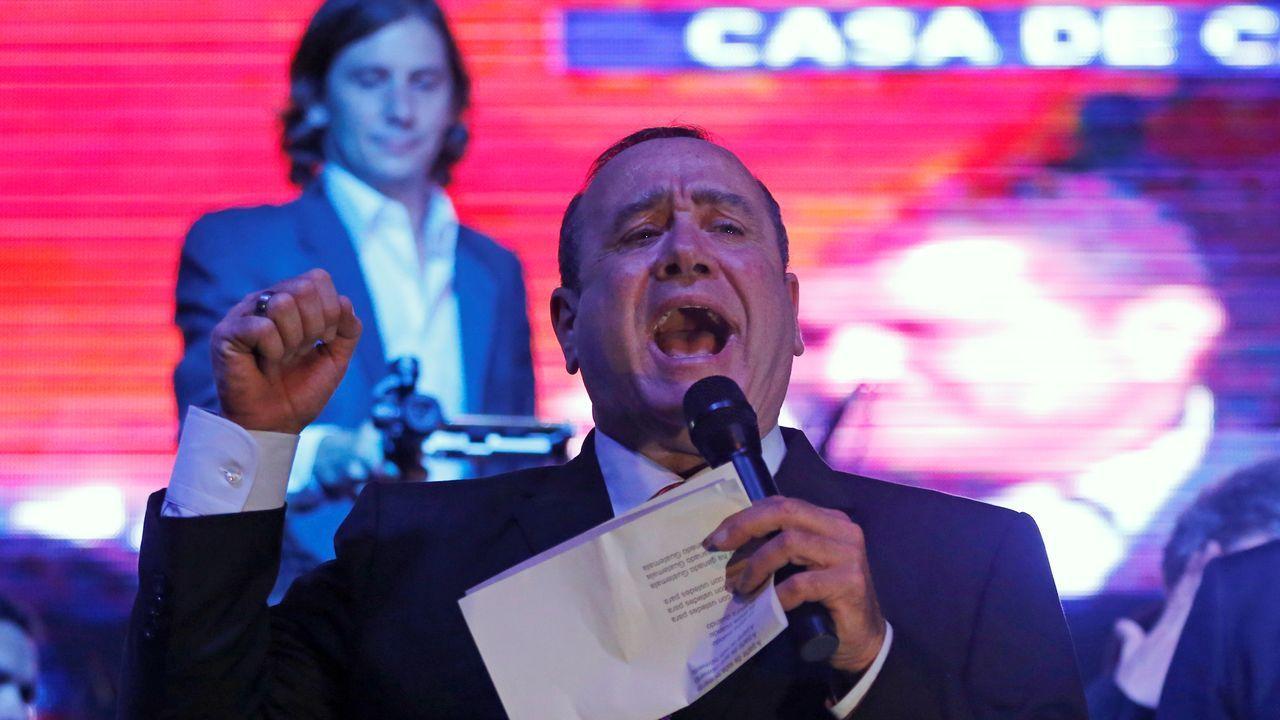 Alejandro Giammattei gana las elecciones en Guatemala.Isabel Díaz Ayuso, candidata del PP a la presidencia de la Comunidad de Madrid, durante su discurso de investidura