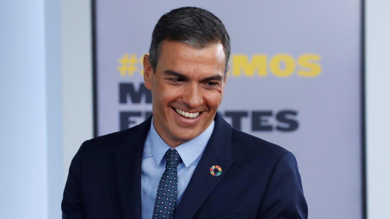 El presidente del Gobierno, Pedro Sánchez, interviene durante la primera sesión de control al Gobierno en el Congreso.