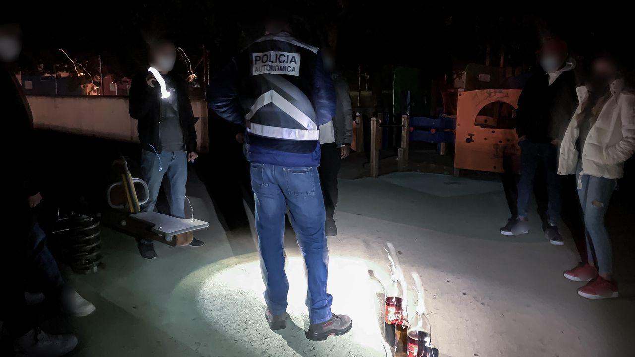 Foto de archivo de un control del ocio nocturno por el covid de la Policia Autonómica