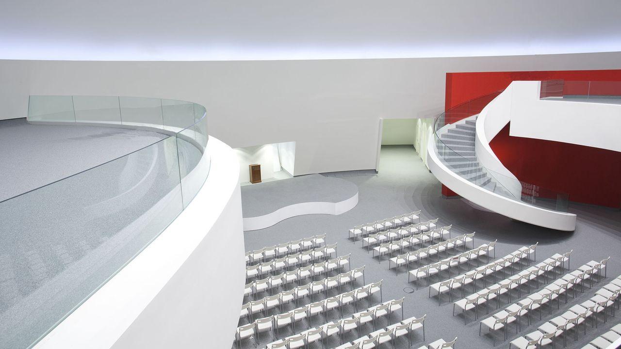 Interior del centro Niemeyer