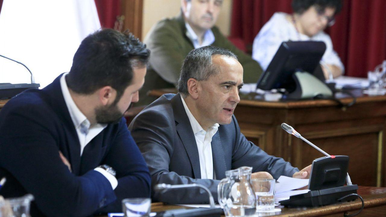 El líder de los populares en el Concello, Ramón Carballo