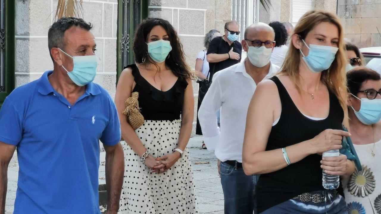 Laura Nóvoa, exconcejala de Democracia Ourensana, en un acto electoral del PSOE en Ribadavia