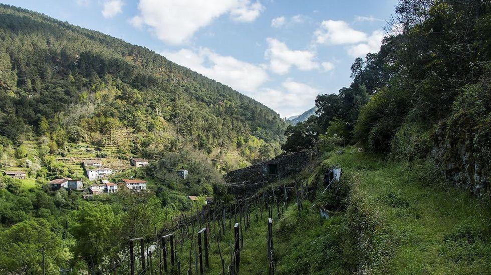 Imágenes de la ruta de A Queimada.Iberdrola invierte 55 millones en la ampliación de la central de San Pedro, en el río Sil, en la imagen.