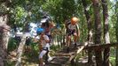 Actividades en uno de los campamentos veraniegos de Cruz Roja en Ourense