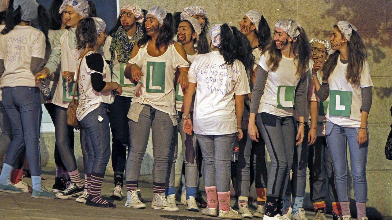 Novatadas en Santiago, en una imagen de archivo