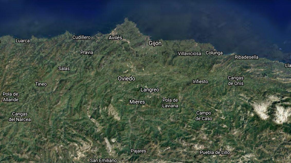 Evolución de las ciudades asturianas.Helicóptero del SEPA