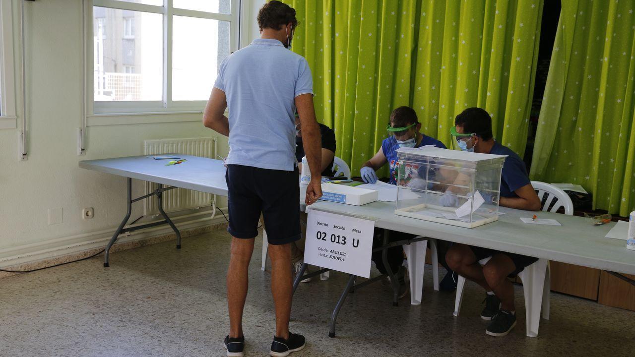 Votación en A Coruña