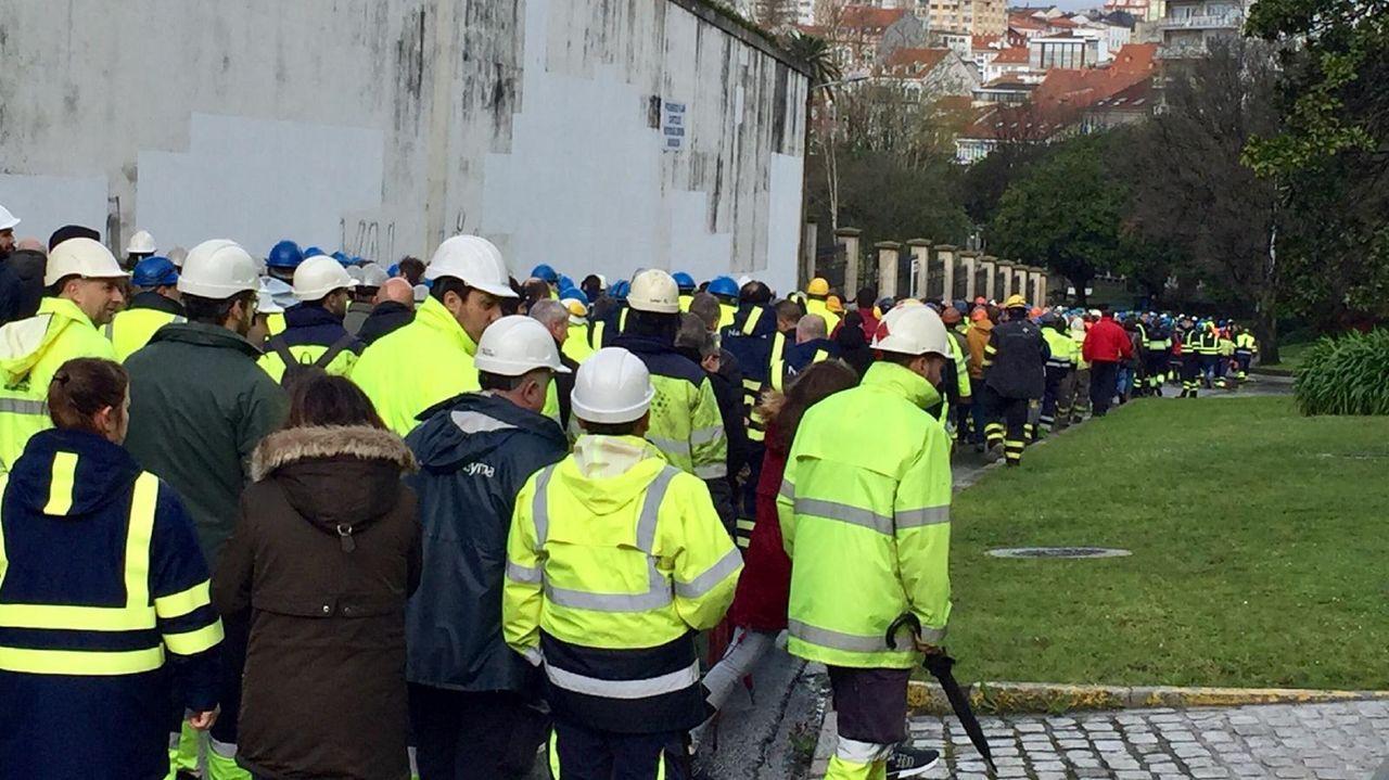 La actividad empresarial, bajo mínimos en Ferrolterra.Muchos trabajadores del sector naval se han visto afectados por un ajuste temporal