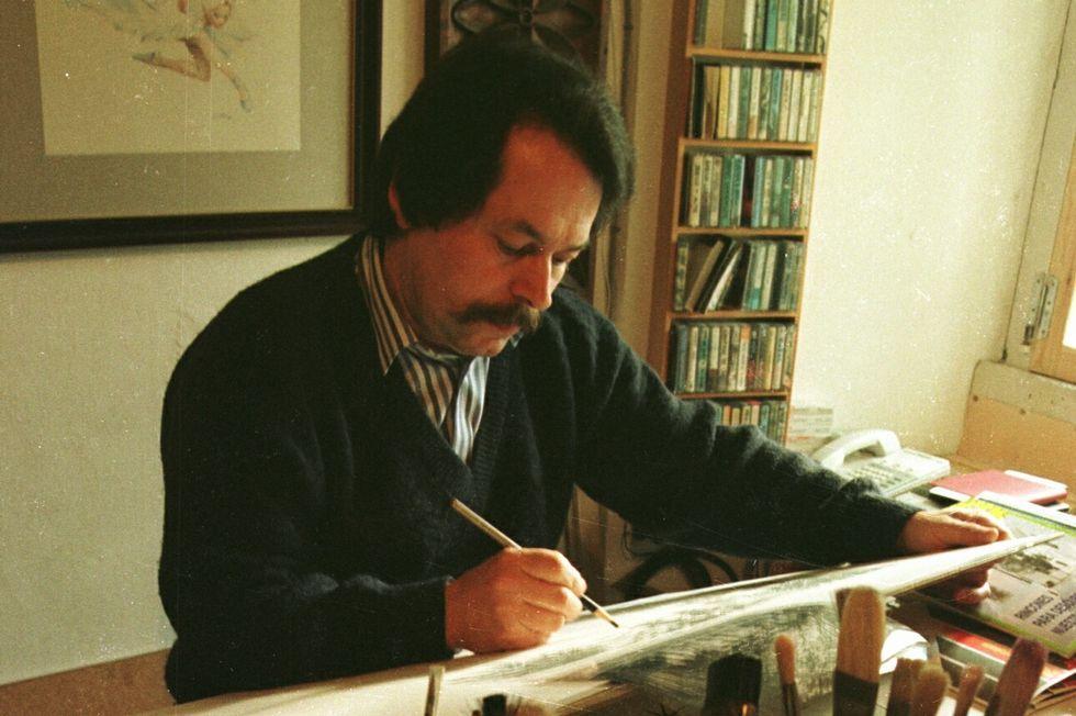 Suso Peña, polifacético artista ribadense, falleció en el 2005.