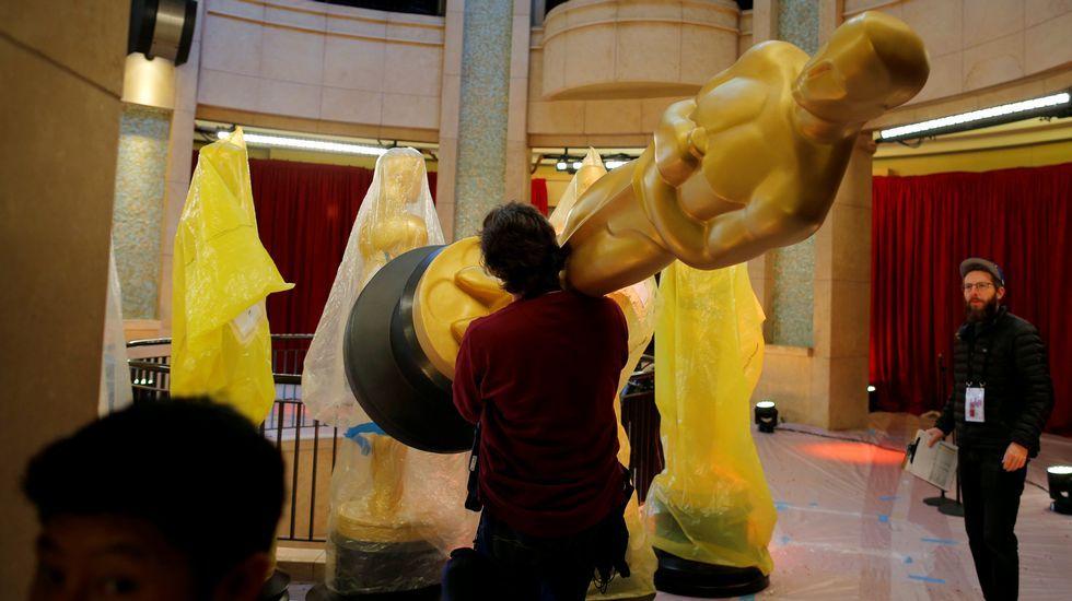 Preparativos para la gala de los Oscar