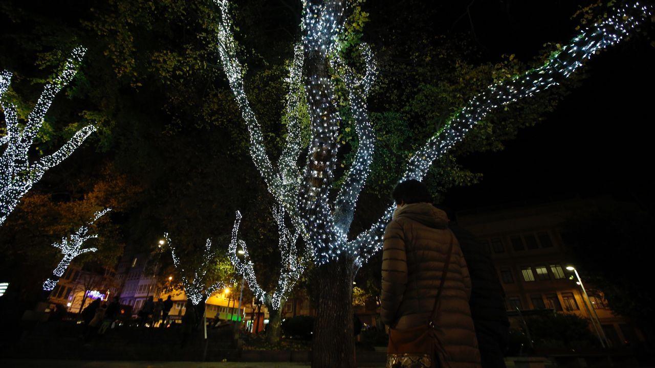 Alumbrado navideño encendido en A Coruña
