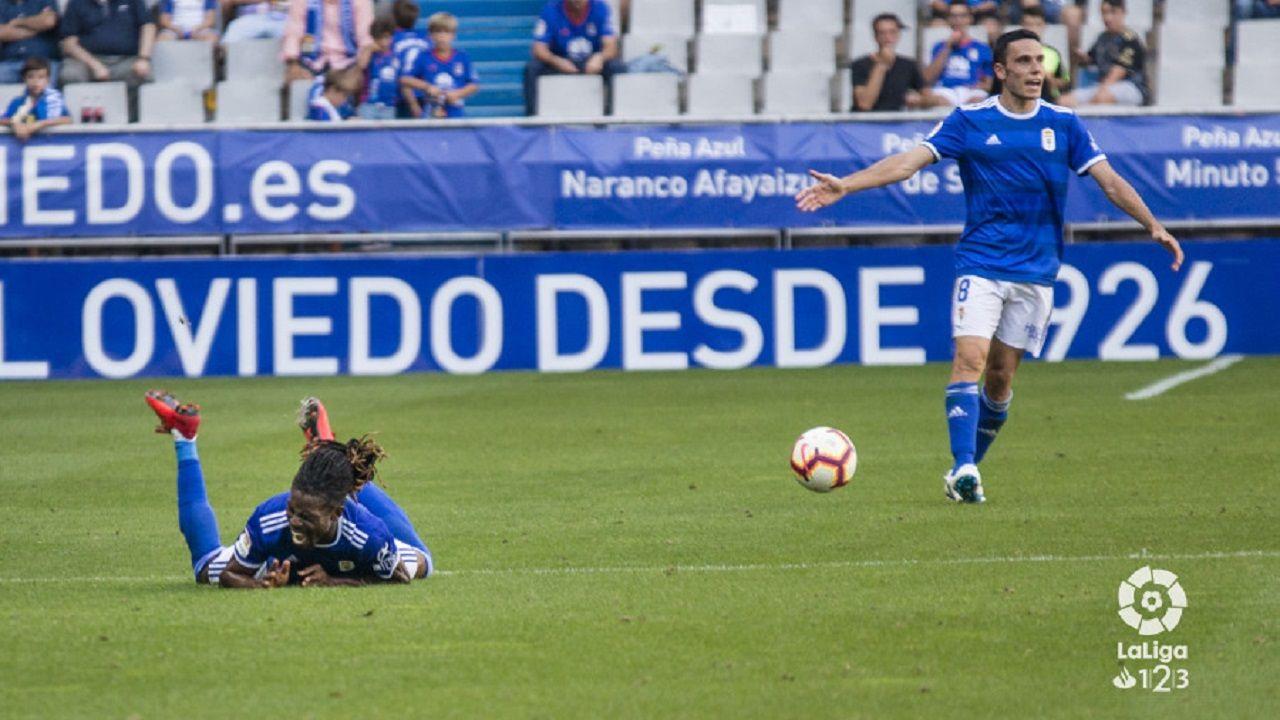 Folch protesta al árbitro con Boateng en el suelo