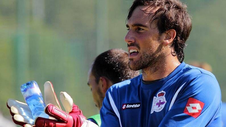 La secuencia del golazo de Lucas.Marc Martínez militaba en la Unión Deportiva Logroñés hasta que recibió la oferta del Somozas