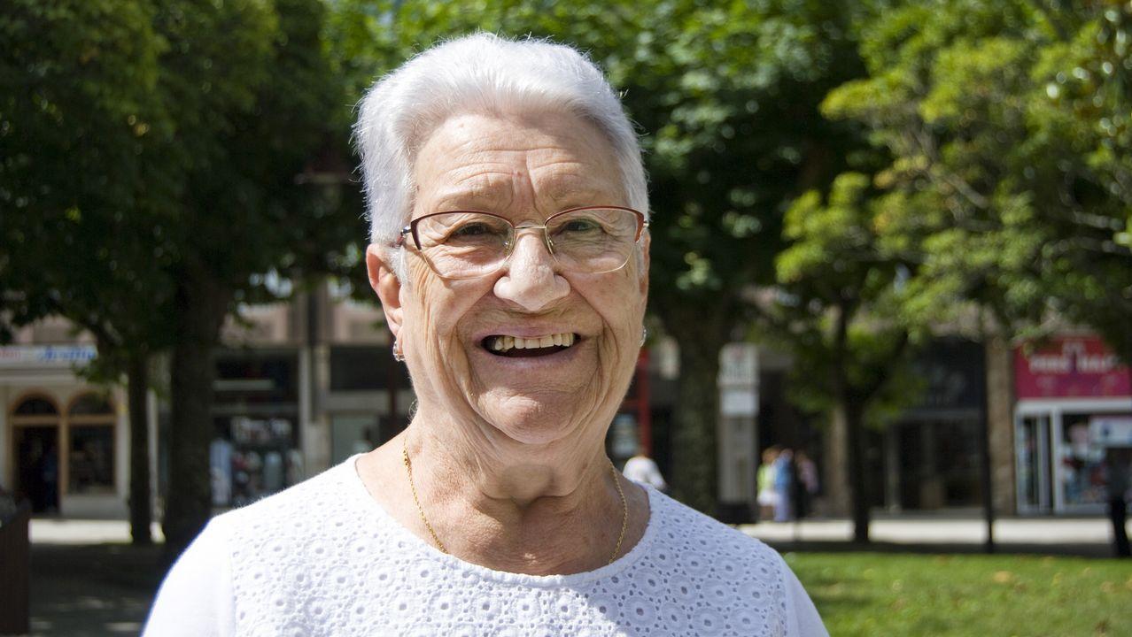 Lidia Moreda. 83 años. Nació en Carballo y trabajó en Montevideo. Fue asistenta