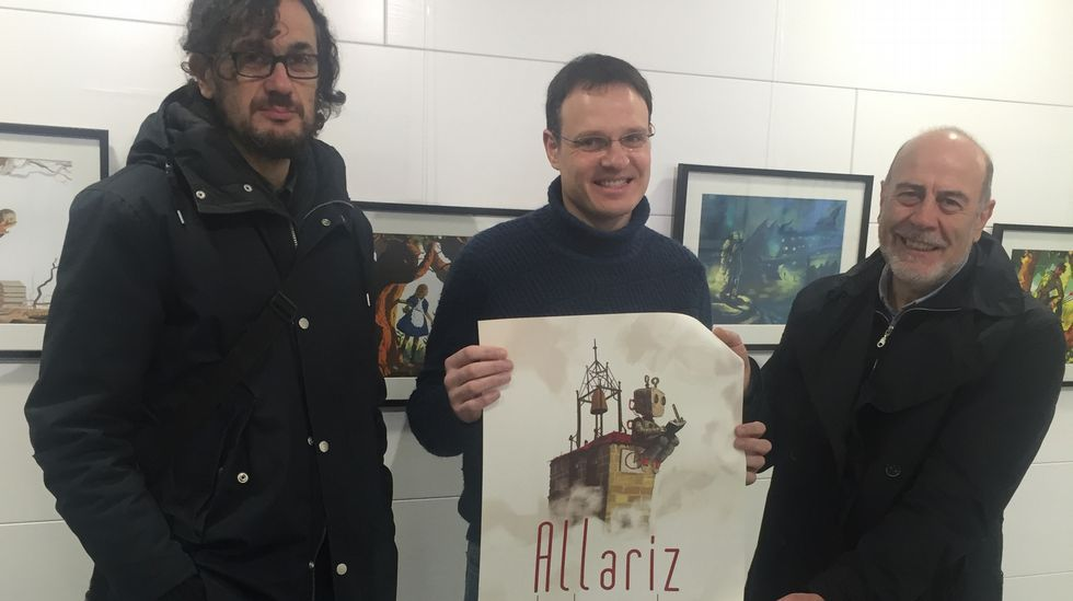 Por la izquierda, Diego Mas, Alejandro Díaz Castaño y Nacho Carballo