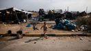 Los refugiados e inmigrantes que estaban en Moria han sido realojados en un nuevo campo provisional en Lesbos