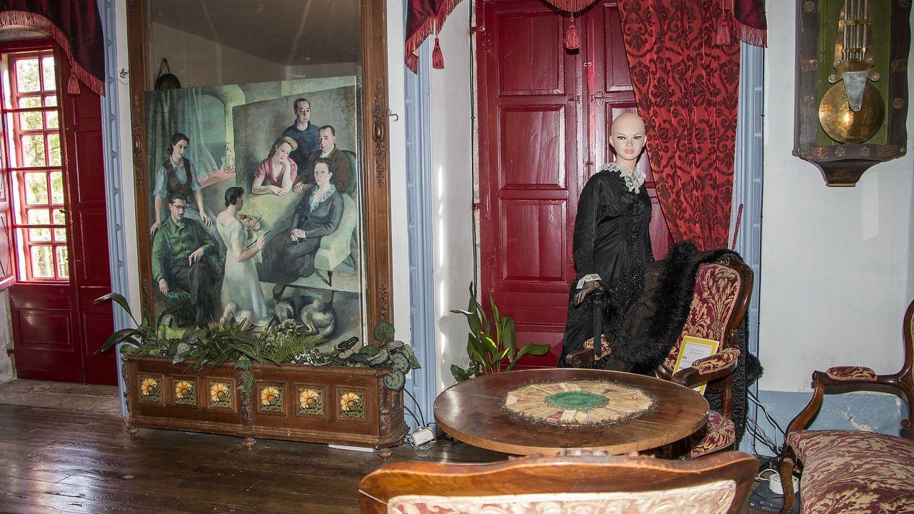 Una sala del museo del Pazo de Tor, que se podrá visitar los sábados por Internet