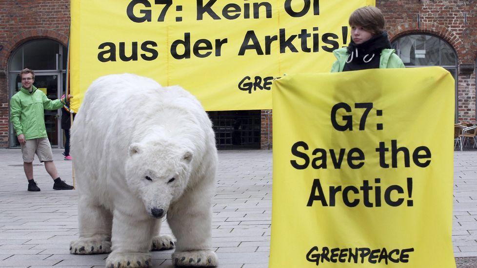 Protestas en una de las útimas cumbres del G7