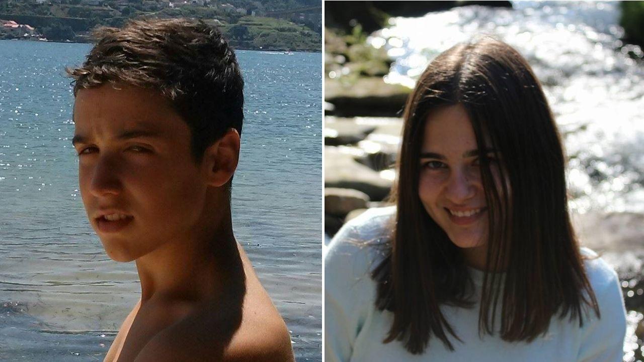 Bieito Lovera y Sara Cal, fallecidos en el trágico accidente de la AP-9 en Vigo, en sendas fotos de su Facebook