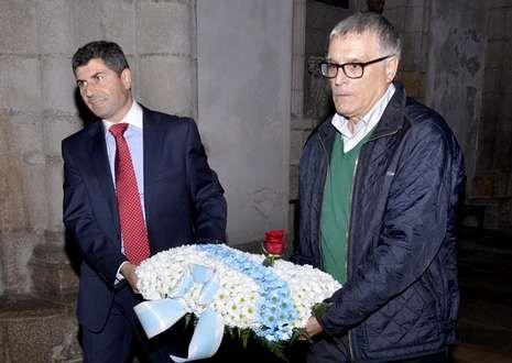 O profesor Antón Meilán -á dereita- abríu onte co pregón as festas e feiras mindonienses.