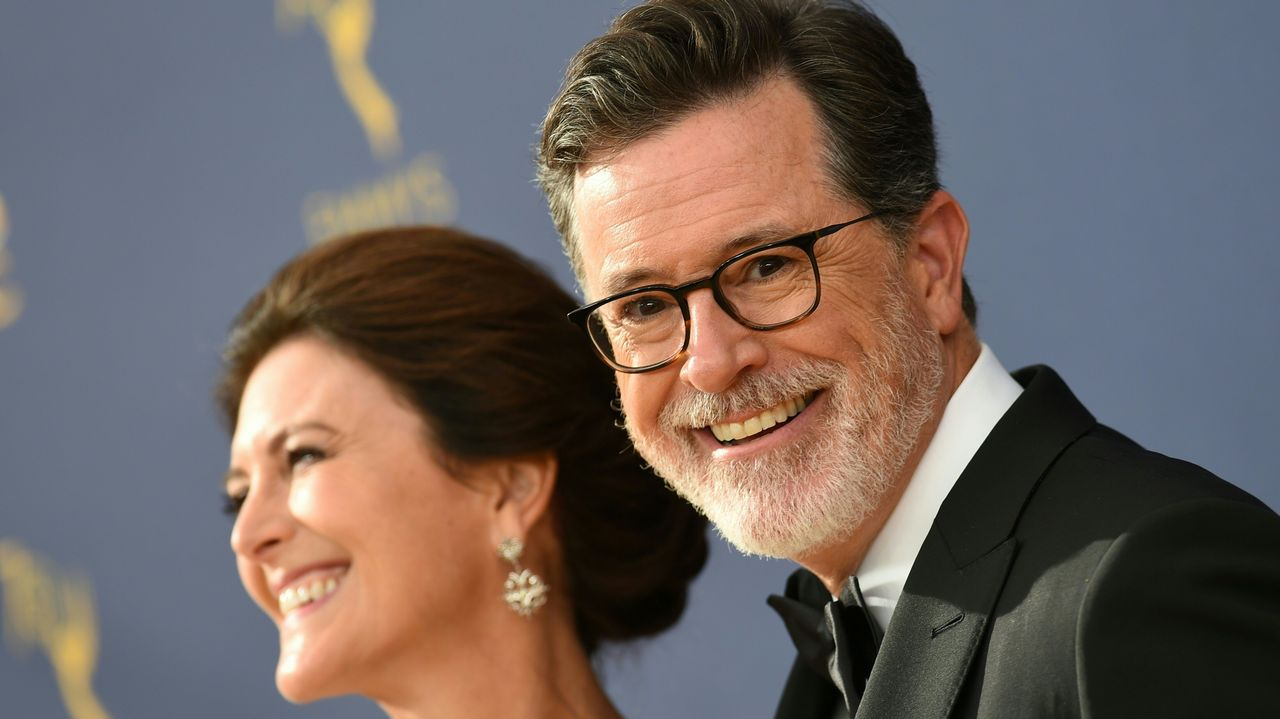 Emmy 2018:  Stephen Colbert y su mujer Evelyn McGee-Colbert