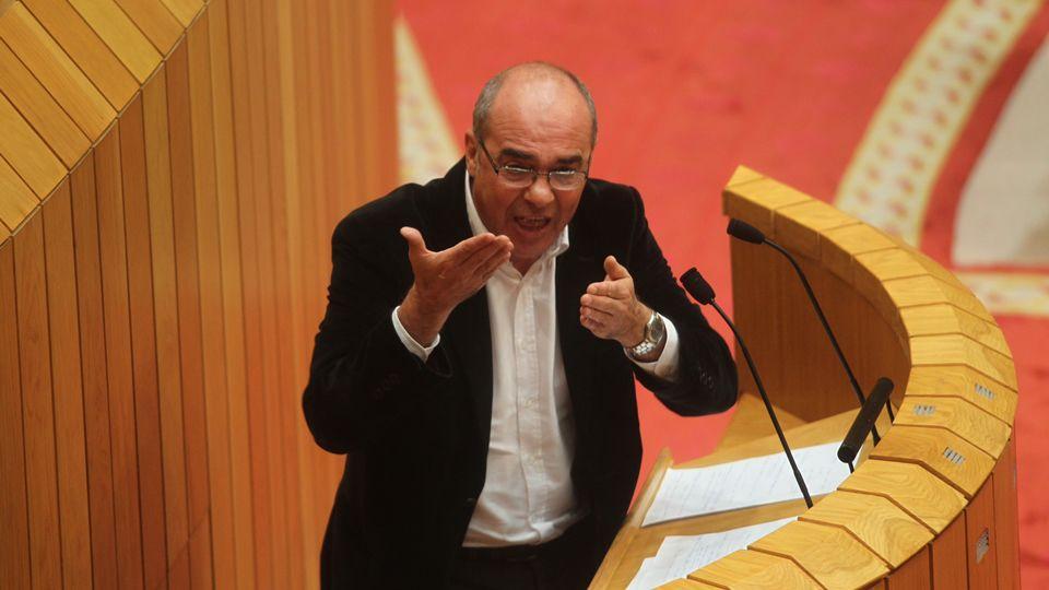 Xosé Manuel Beiras, durante sus comparecencia.