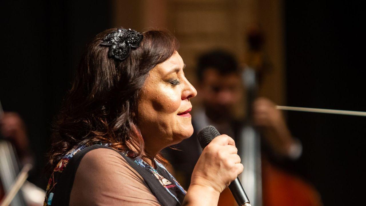 Selectividad, segundo asalto.Susana López Abella, Alfonso Rueda, Nidia Arévalo y Sara Cebreiro en la presentación del programa de subvenciones para víctimas de violencia de género