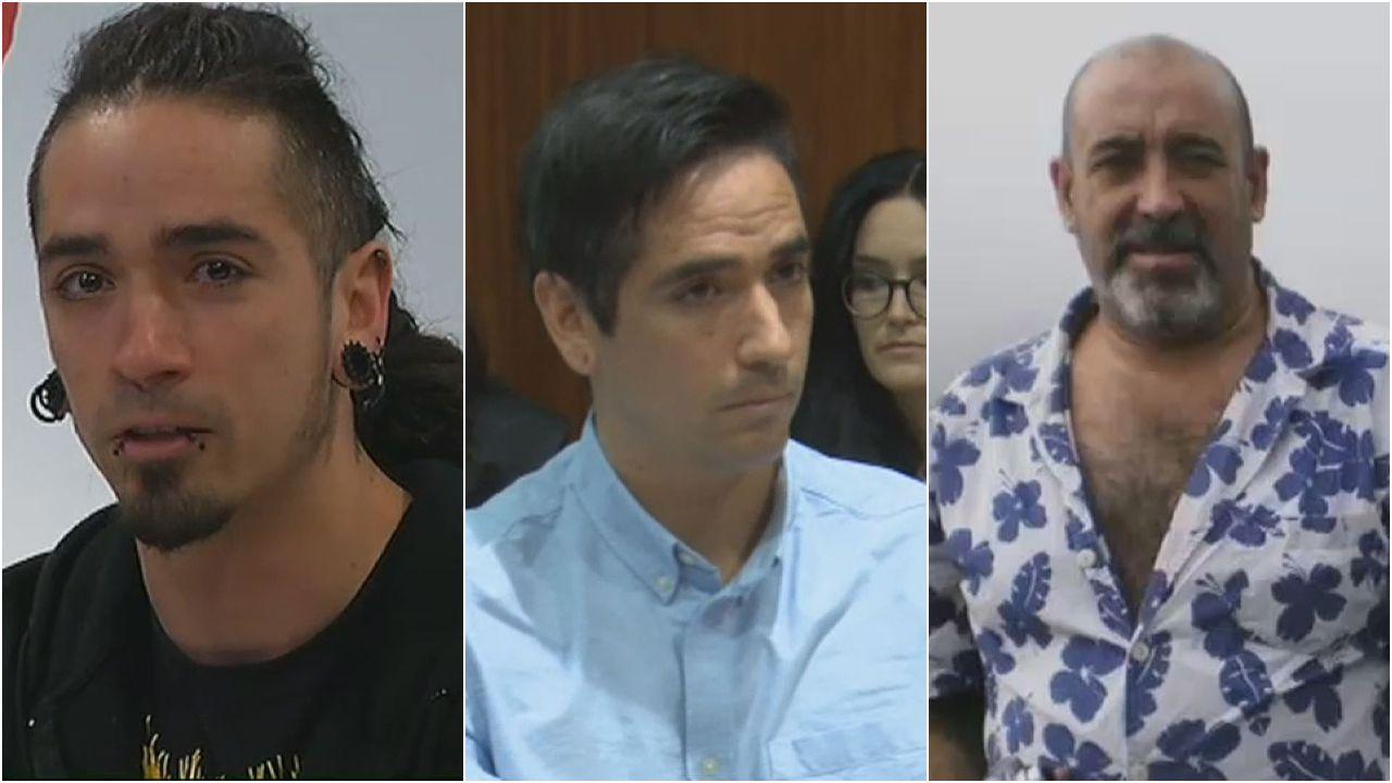 El antisistema Rodrigo Lanza cambió radicalmente su imagen durante el juicio por el homicidio imprudente de Víctor Laínez (derecha)