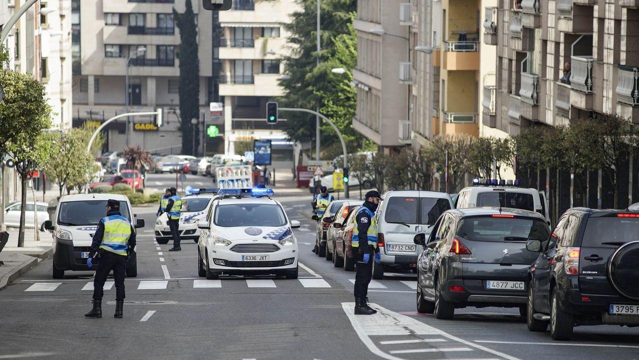 Imagen de un control de la policía local de Ourense