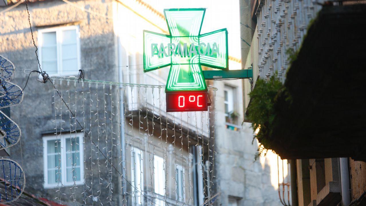 La avenida de Madrid de Lugo llena de nieble ayer hasta las primeras de la tarde