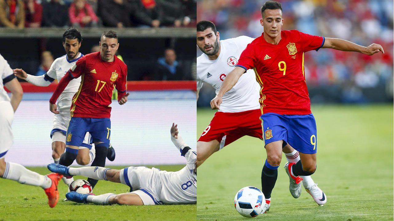 Iago Aspas y Lucas Vázquez, dos gallegos en el Mundial.Iago Aspas y Lucas Vázquez