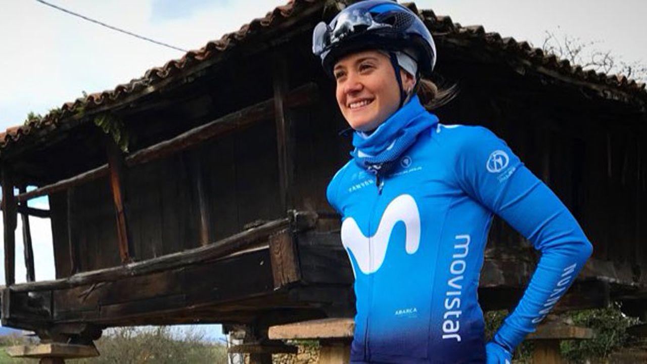 La ciclista asturiana, Alicia González