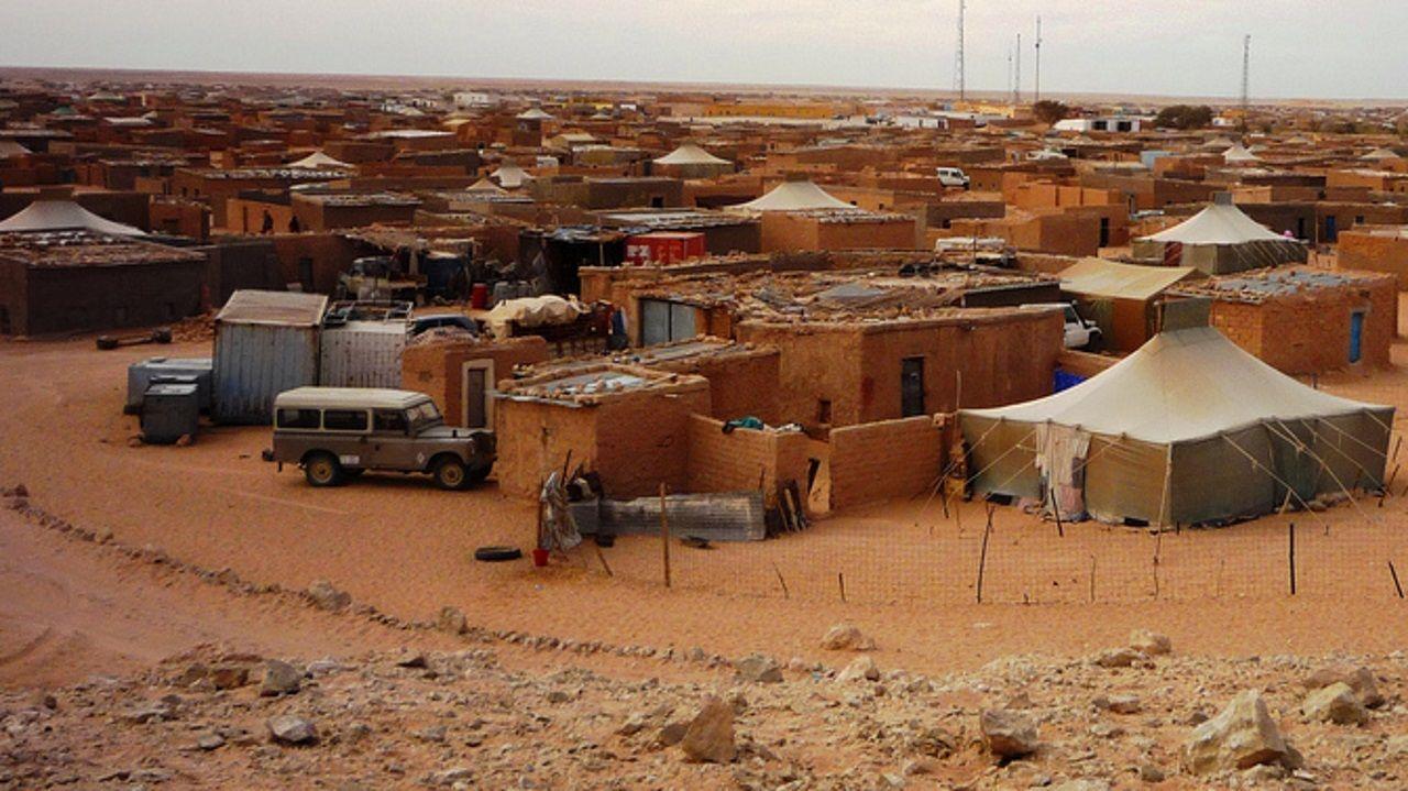 Campamento de refugiados saharauis en Tinduf, en Argelia