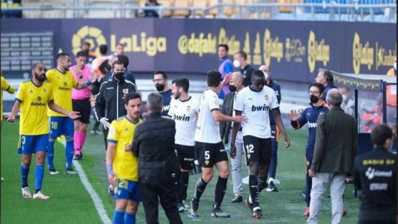 Juan Cala, en un momento del partido frente al Valencia