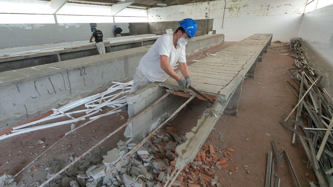El futuro centro de transformación alimentaria de Moeche, cuando empezaron las obras