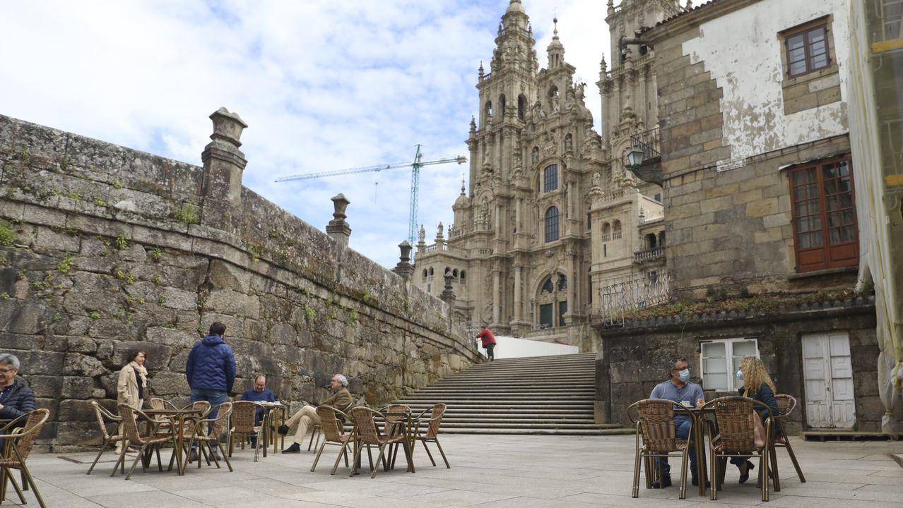 El terraceo volvió a Galicia.Alfonso Otero Regal, cuya empresa recibió el Premio Nacional de Artesanía en el 2011, en las instalaciones de Regal Xunqueira