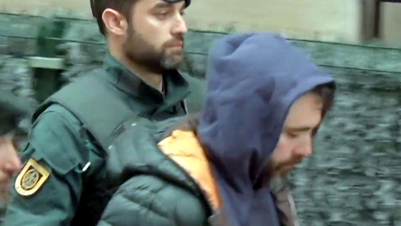Momento de la detención en Amorebieta, Vizcaya, del autor intelectual del asesinato de Javier Ardines