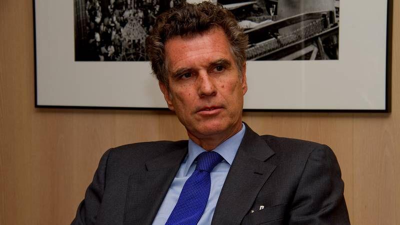 El consejero delegado del Banco Santander, Alfredo Sáenz, durante la presentación de los resultados de la entidad, el pasado 14 de abril