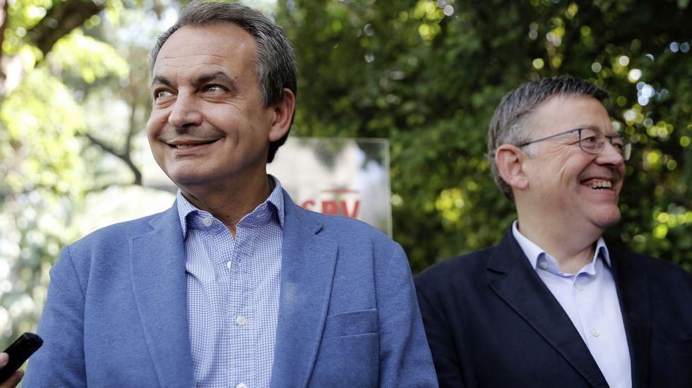 Zapatero, junto a Ximo Puig